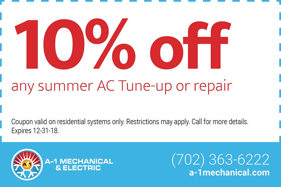 10% off any summer AC tune-up or repair